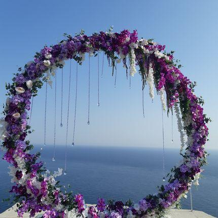 Круглая арка для выездной церемонии