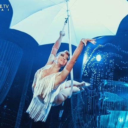 """Гимнастическое выступление """"Воздушный зонт"""""""
