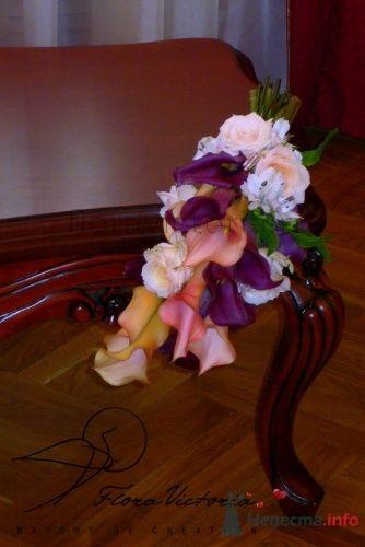 Дугаобразный букет - фото 1357 Cвадебная флористика и декор событий FloraVictoria
