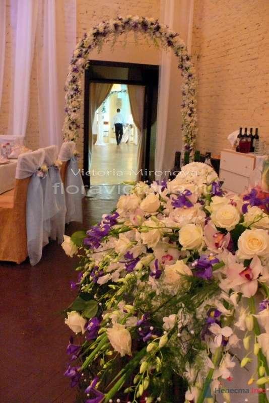 Свадьба, оформление зала цветами и тканью - фото 29425 Cвадебная флористика и декор событий FloraVictoria