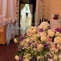 Свадьба, оформление зала цветами и тканью