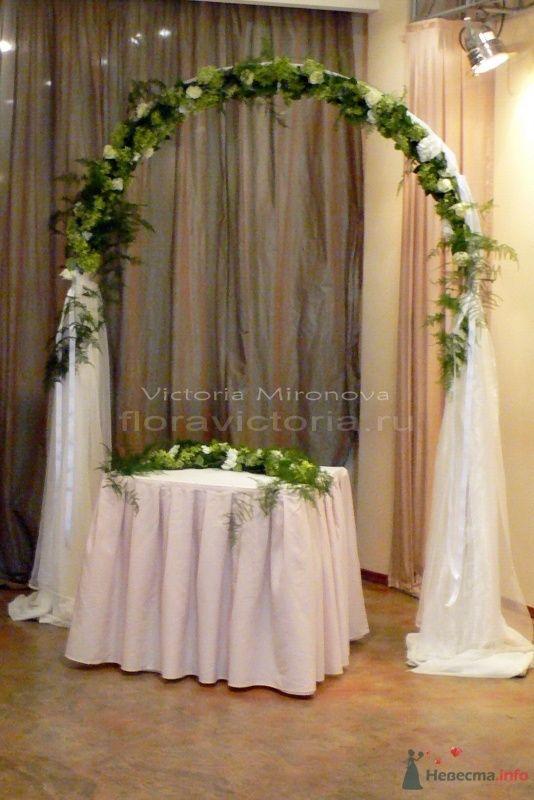 Свадебная арка, выездная регистрация брака в ресторане - фото 29428 Cвадебная флористика и декор событий FloraVictoria