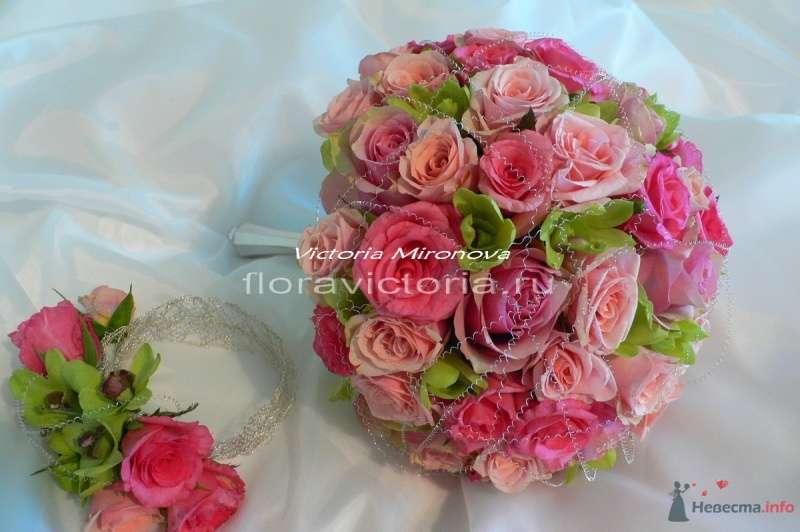 Букет невесты и украшение на руку - фото 36294 Cвадебная флористика и декор событий FloraVictoria