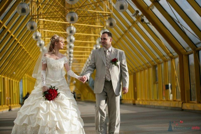 """Классический бежевый костюм """"двойка"""" жениха с полосатым бежевым галстуком и красной бутоньеркой в петлице пиджака - фото 61431 alena_kis"""
