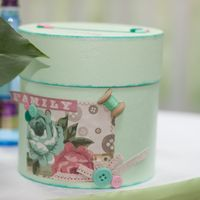 Свадебные аксессуары. Коробочка для подарков (казна) для мятно-розовой персиковой свадьбы