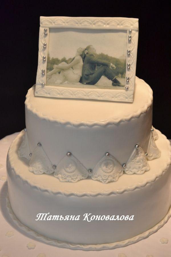 """Фото 1168321 в коллекции Мои свадебные торты - Студия торта """"Сахарная пудра"""""""