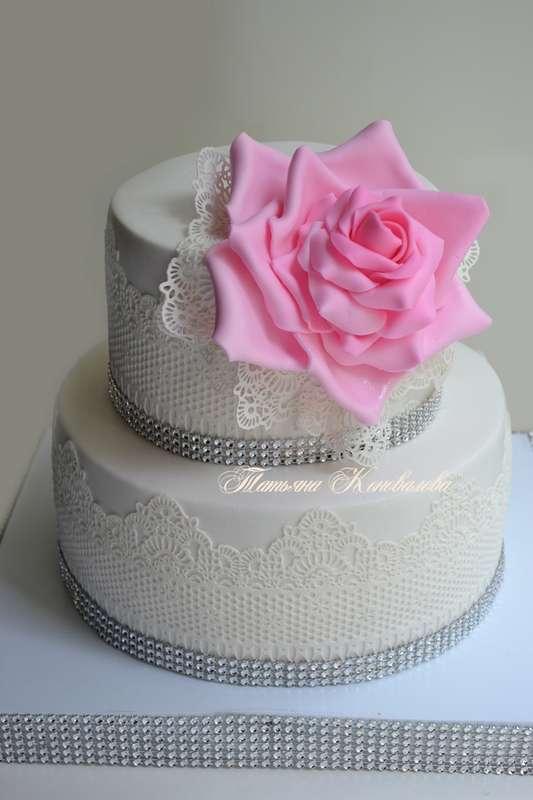"""Фото 3036119 в коллекции Мои свадебные торты - Студия торта """"Сахарная пудра"""""""