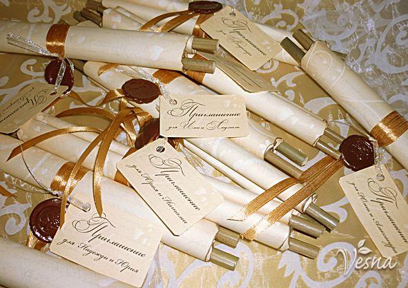 Фото 523023 в коллекции Приглашения - Vesna-Art - аксессуары для свадьбы