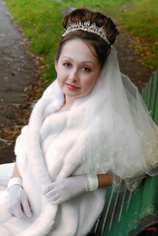 свадебная причёска с диадемой - фото 46421 Свадебный стилист Татьяна Мартынова