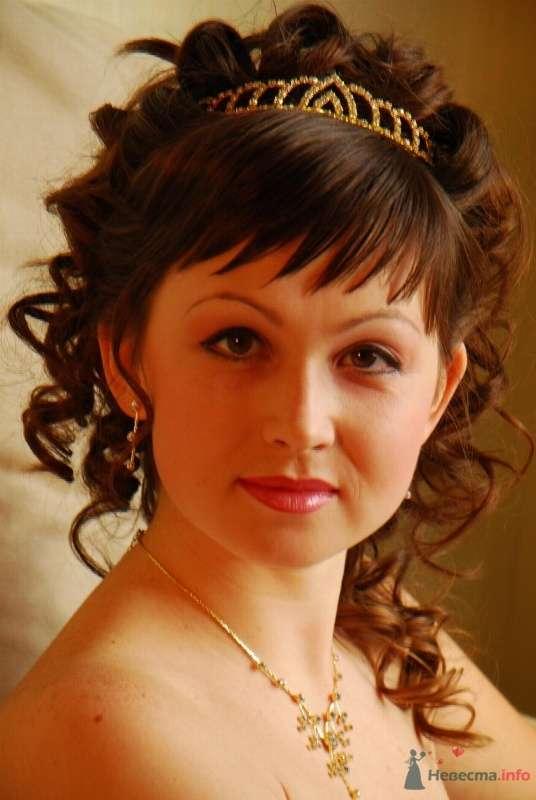 свадебная причёска с диадемой - фото 67061 Свадебный стилист Татьяна Мартынова