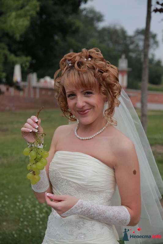 свадебная причёска из волос средней длинны - фото 123360 Свадебный стилист Татьяна Мартынова