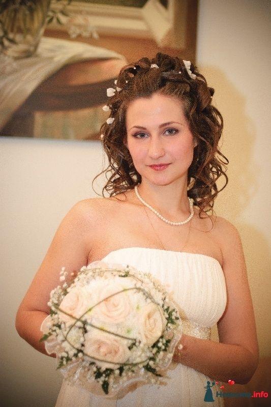 свадебная причёска  из длинных волос - фото 123377 Свадебный стилист Татьяна Мартынова