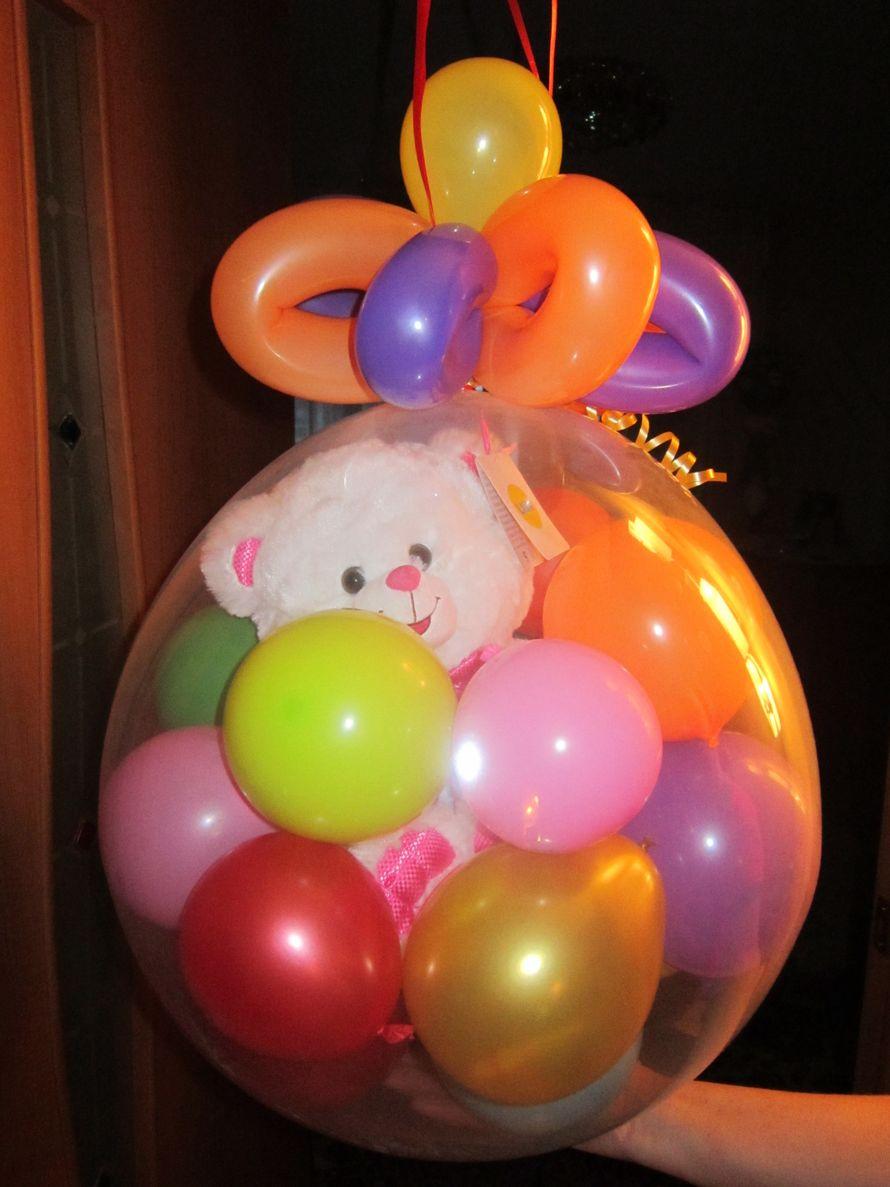 """Упаковка подарков в воздушный шар - фото 548075 Студия оформления праздника """"Ананас"""""""