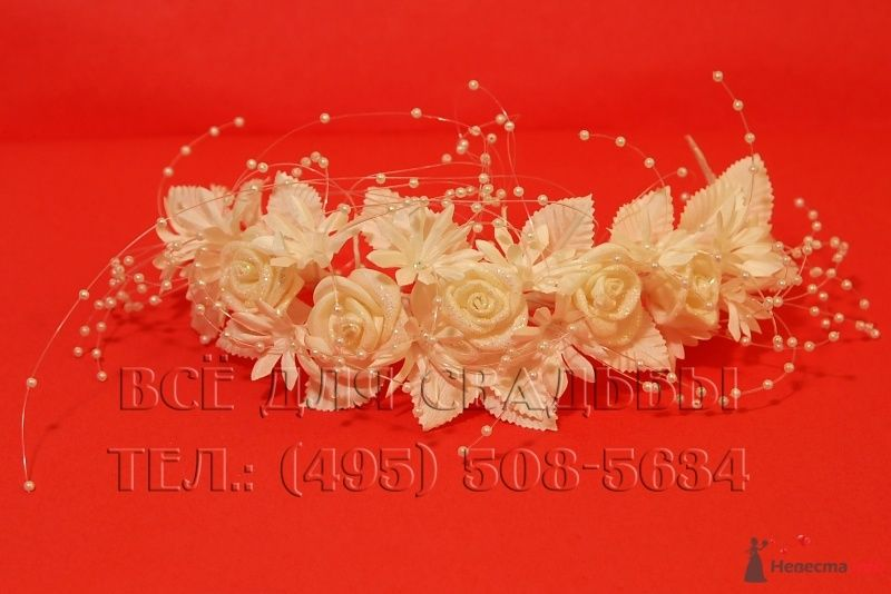 """Арт.116-001 Украшения для невесты: Веночек для волос - фото 50729 """"Все для свадьбы"""" - салон аксессуаров и услуг"""