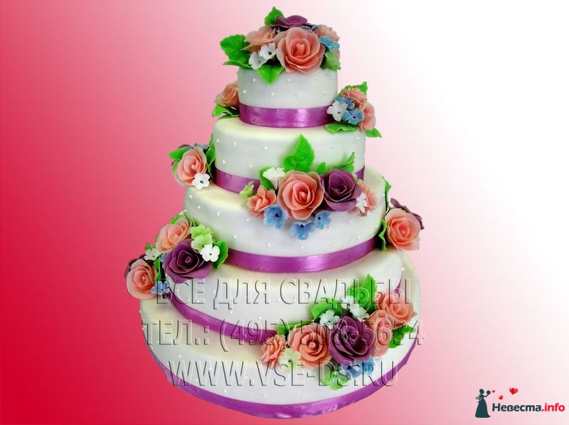"""Фото 81871 в коллекции Свадебные торты - """"Все для свадьбы"""" - салон аксессуаров и услуг"""