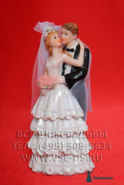 """Арт.142-005 Фигурка на торт «Свадебная пара». Невеста в платье с воланами. - фото 85245 """"Все для свадьбы"""" - салон аксессуаров и услуг"""