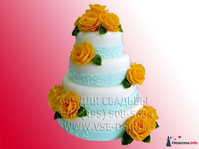 """Фото 99364 в коллекции Свадебные торты - """"Все для свадьбы"""" - салон аксессуаров и услуг"""