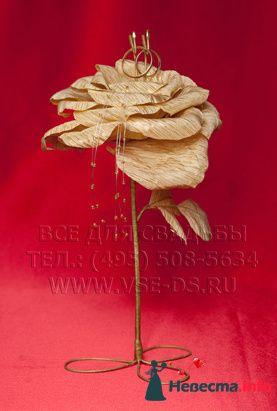 """Цветок для колец. Авторская работа. Арт.105-016 - фото 127858 """"Все для свадьбы"""" - салон аксессуаров и услуг"""