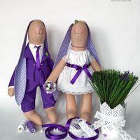 """Свадебные зайцы """"Лавандовое кружево"""""""