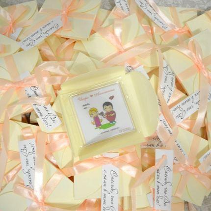 Магнит в конверте с пожеланиями
