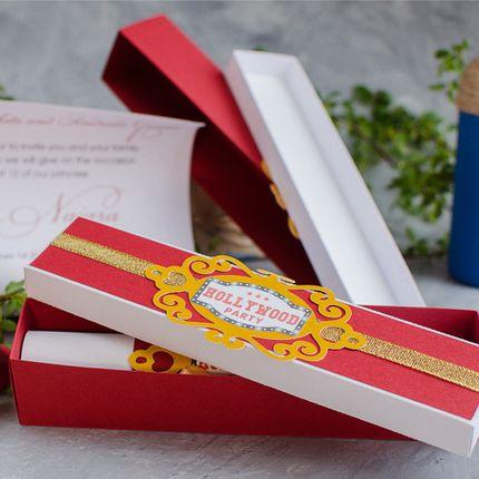 Приглашение - свиток в коробке, цена за 1 шт.