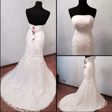 Свадебное платье шнуровка, 40-44