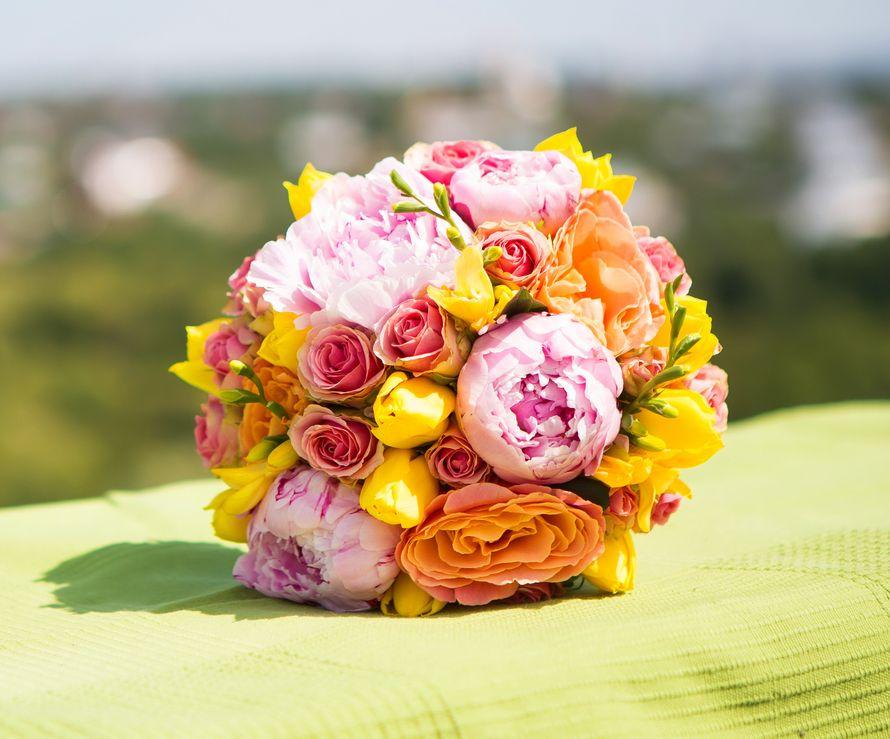 Цветы самара, букет из желтых пионов купить минск