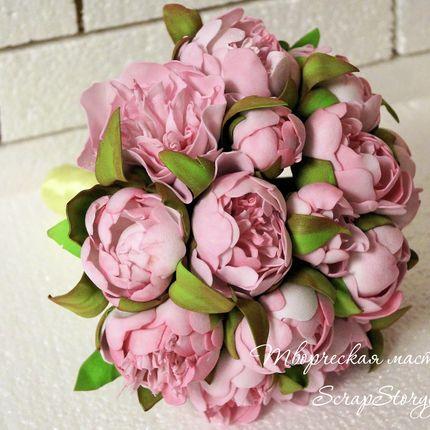 """Свадебный букет невесты """"Розовые пионы"""""""