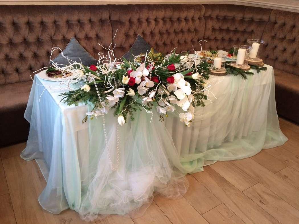 Стол жениха и невесты - фото 16365156 Ресторан Мармарин