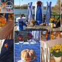 Сине-оранжевое оформление