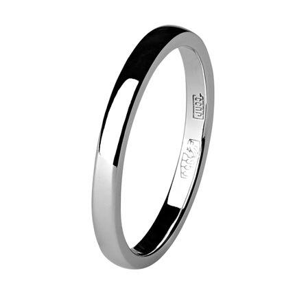 Обручальное кольцо из платины, квадратное 2 мм