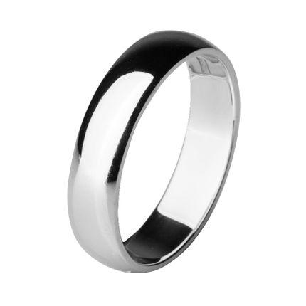 Обручальное кольцо из платины, округлое 5 мм