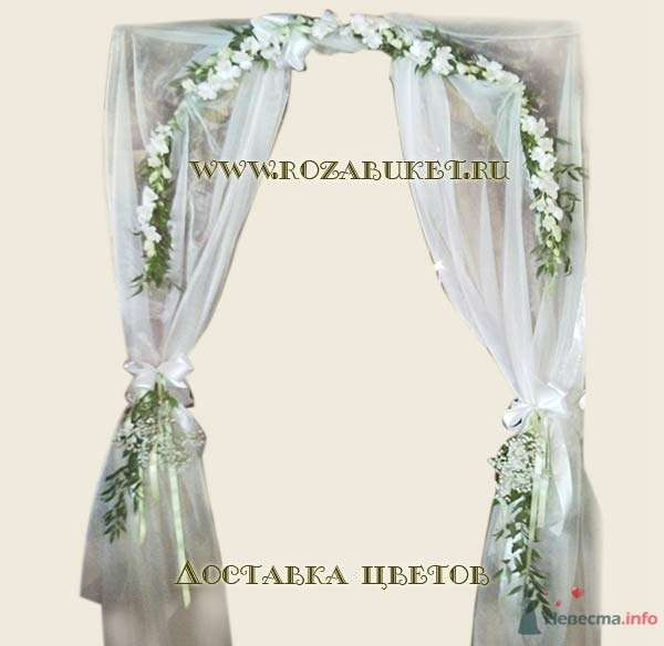 Полуарка из цветов - фото 46014 Невеста01