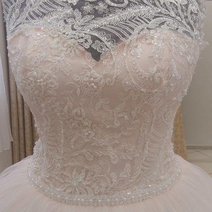 Свадебное платье в цвете пудры