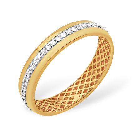 Кольцо из красного золота 585 с бриллиантами, арт. 3
