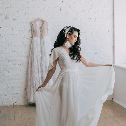 Будуарное платье для утра невесты