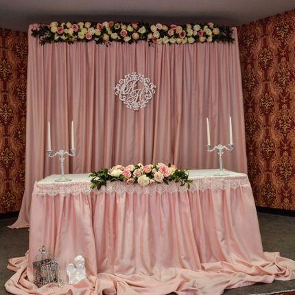 Оформление свадебного стола и задник