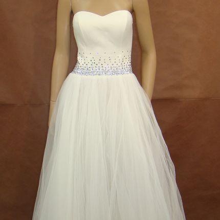 Роскошное свадебное платье со стразами