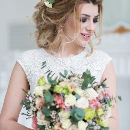 Свадебный образ (макияж,причёска), без репетиции