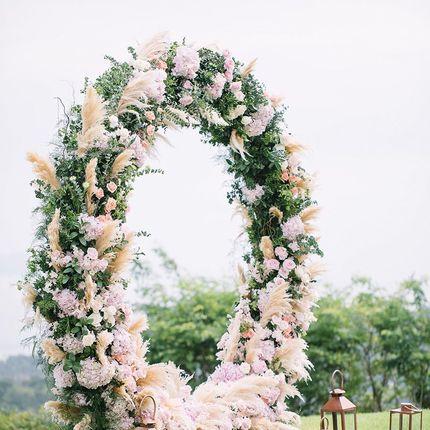 Аренда Красивая круглая Арка свадебная для выездной регистрации