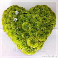 Подушка для колец из живых цветов