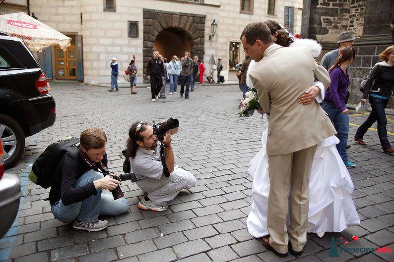 На съёмке в Праге