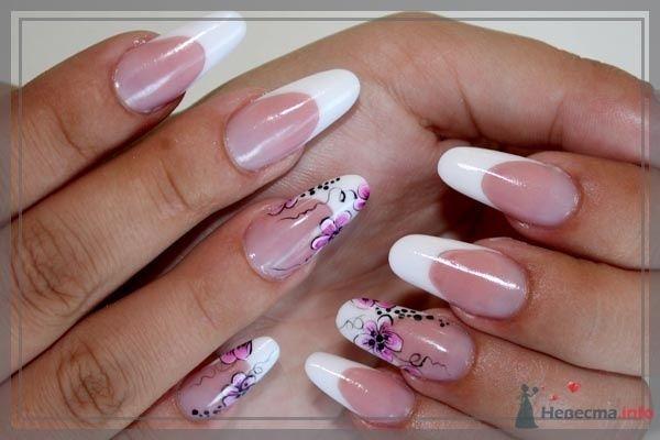 роспись акриловыми красками - фото 47104 Наращивание ногтей - частный мастер Malina