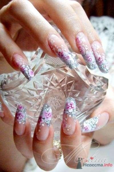 роспись акварель - фото 47105 Наращивание ногтей - частный мастер Malina