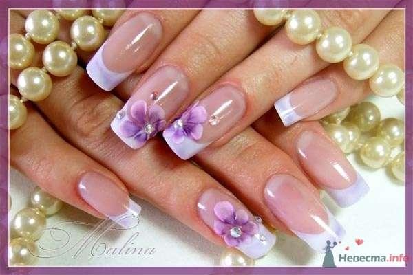 под фиолетывый костюм жениха) - фото 47109 Наращивание ногтей - частный мастер Malina