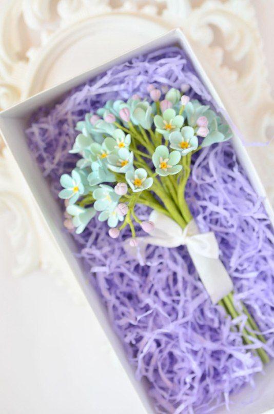 """Мини-букет из незабудок для подружек невесты. - фото 2520811 Ателье цветов """"Блюмен"""""""