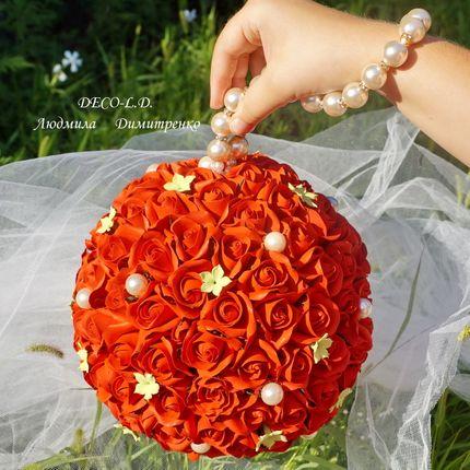 Букет невесты из роз Шар