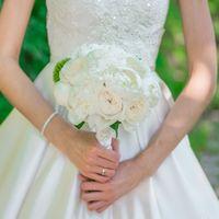 Свадебный букет для Татьяны, пионы, пионовидные розы, ресторан Европейский
