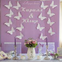 В свадебной индустрии очень важно не только слушать, но и слышать своих клиентов, чтобы в день свадьбы исполнить любую мечту, приятно удивив молодоженов и их гостей. Наша невеста Юля мечтала о том, чтобы десятки, нет, сотни бабочек, украсили праздничный в