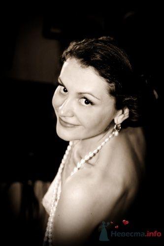 Портрет невесты в бусах